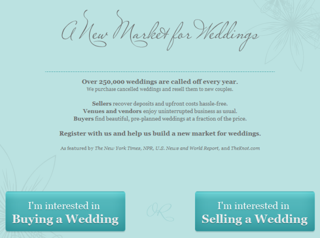 İş Fikri -iptal edilmiş düğün organizasyonlarını, başka çiftlere satmak-2