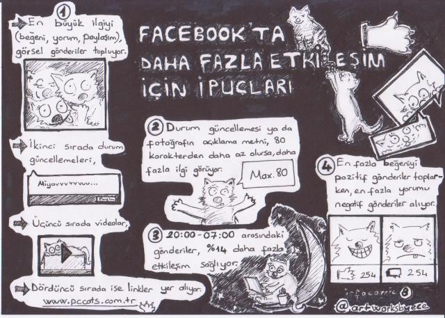 facebookta daha fazla etkileşim infographic -comics